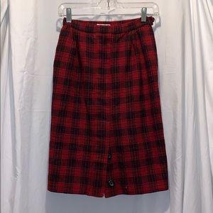 Vintage Valentino Plaid Skirt